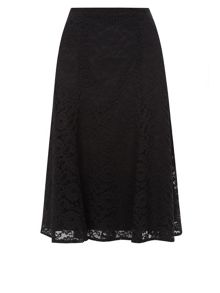 Flippy Lace Belted Skirt