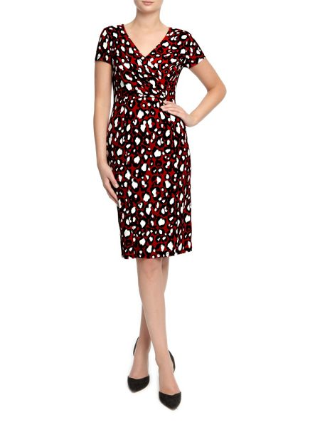 Planet Red Animal Print Jersey Dress