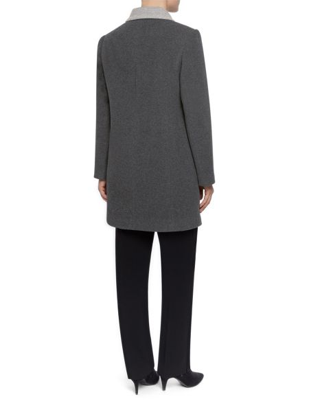 Eastex Charcoal Contrast Tipped Coat