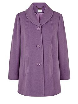 Mauve Shawl Collar Coat