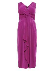 Magenta Chiffon Maxi Dress