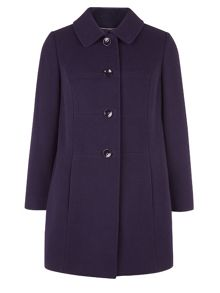 Eastex Purple Seam Detail Coat