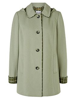 Cedar Check Hooded Coat