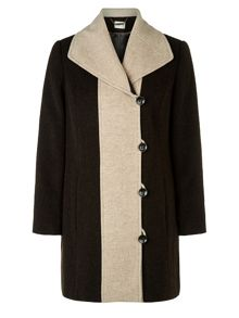 Eastex Chocolate Contrast Tipped Coat