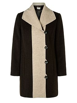 Chocolate Contrast Tipped Coat