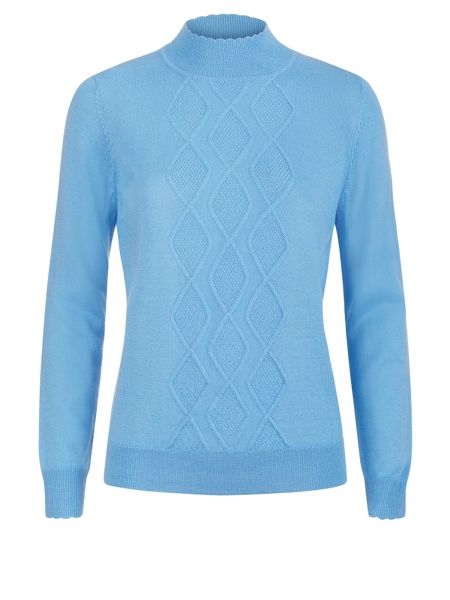 Eastex Diamond Turtle Neck Sweater