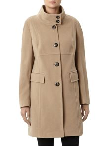 Windsmoor Camel Funnel Mid Wool Coat