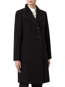 Black Mid Wool Coat