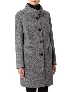 Textured Mid Wool Coat