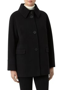 Black Short Wool Coat