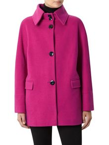 Fuchsia Short Wool Coat