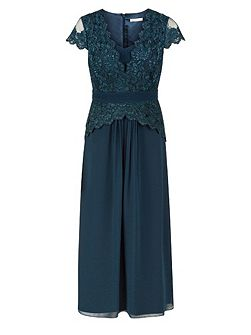 Petite Chiffon Lace Maxi Dress