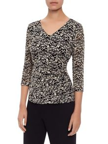 Kaliko Contrast Lace Jersey Top