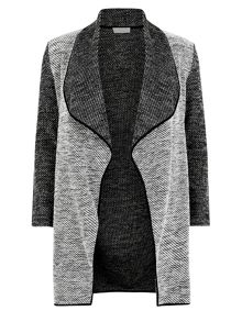Textured Long Jacket