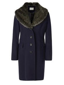 Kaliko Faux Fur Collar Coat