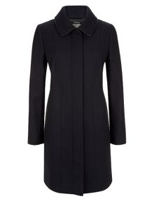 Planet Navy Wool Coat
