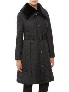 Kaliko Long Full Skirted Nylon Coat
