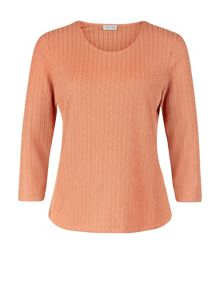 Eastex Clementine Sleeve Pique Top