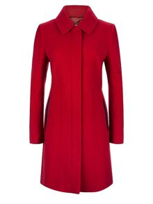 Red Seam Detail Coat