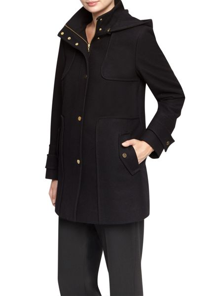 Planet Black Wool Duffle Coat