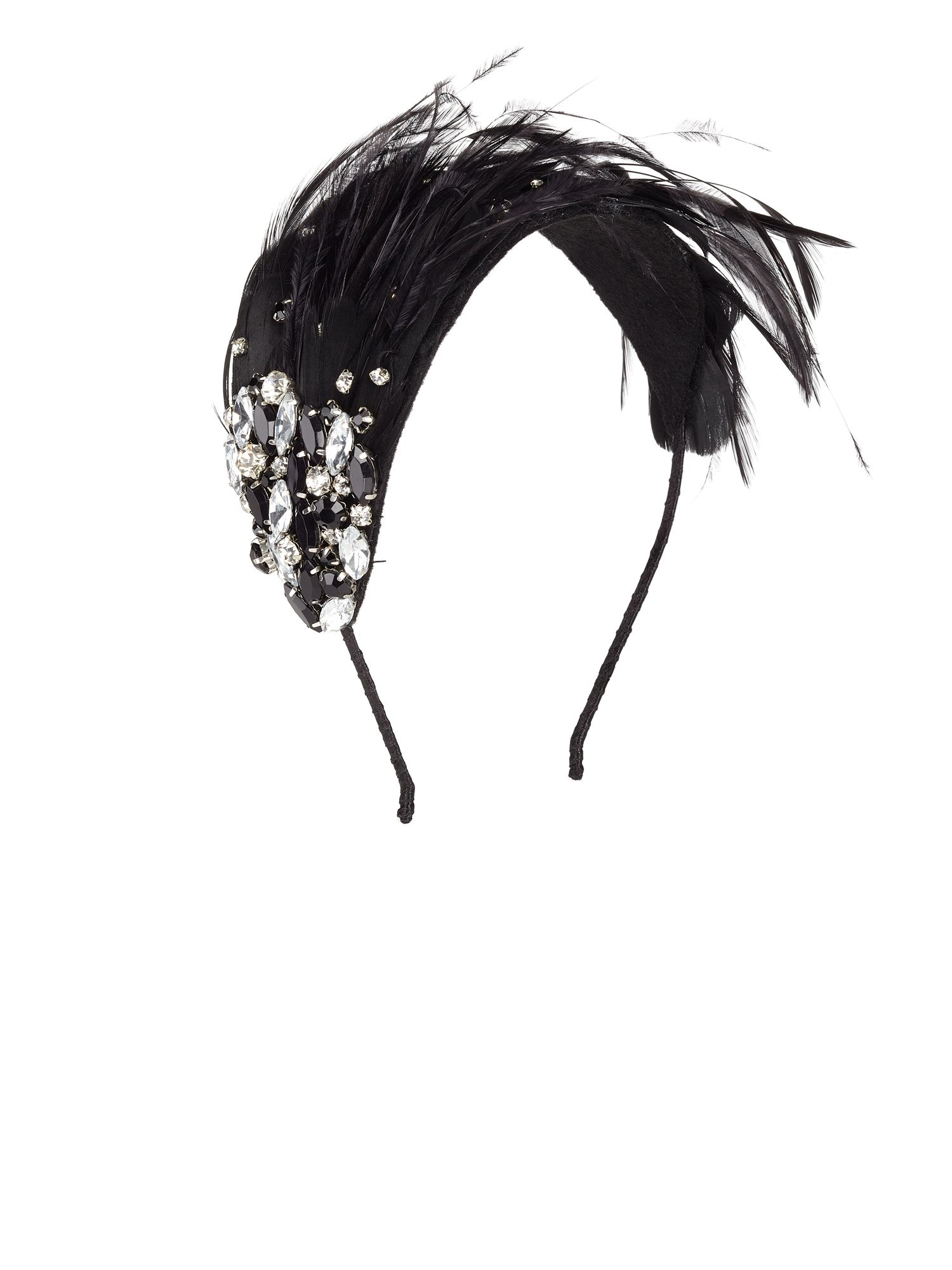 Jacques Vert Feather Scatter Stone Headband $49.00 AT vintagedancer.com