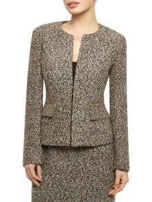 Boucle Collarless Jacket