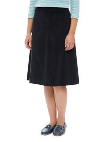 Panelled Cord Skirt Mid