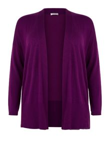 Fuschia Open Front Cardigan