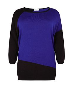 Windsmoor Cobalt Block Knit Sweater