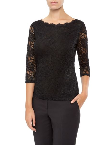 Planet Scallop Lace Jersey Top