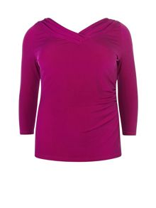 Raspberry Bardot Jersey Top