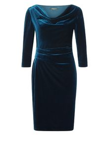 Precis Petite Teal Velvet Dress