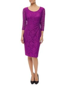 Precis Petite Scoop Neck Lace Dress