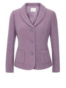 Eastex Mauve Boiled Wool Jacket