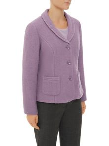 Mauve Boiled Wool Jacket