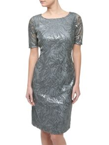 Precis Petite All Over Sequin Dress
