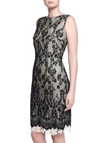 Kaliko Double Layer Heavy Lace Dress