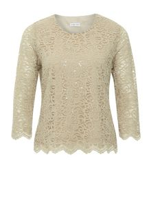 Eastex Gold Lace Scallop Sequin Top