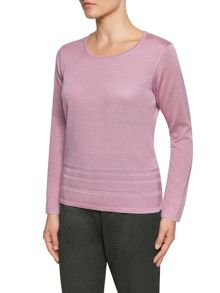 Soft Pink Pintuck Hem Sweater