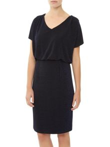Sparkle Jersey Dress With Trim