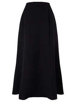 Crepe Fit & Flare Skirt