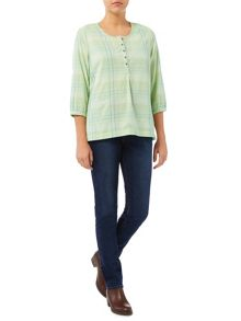 Dash Open Collared Check Shirt