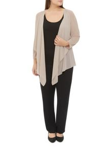 Windsmoor Knit And Chiffon Cardigan