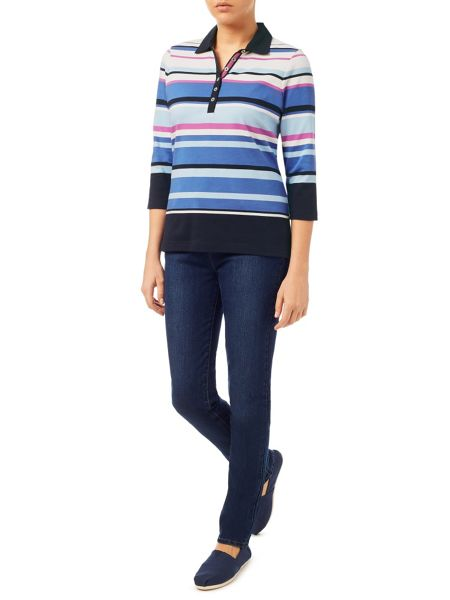 Dash Pink Stripe Rugby Top