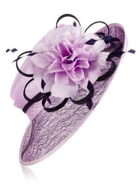 Jacques Vert Mesh Feather Flower Hat