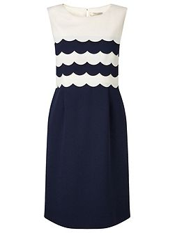Petite Scallop Edge Dress