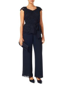 Jacques Vert Pleated Side Chiffon Trouser