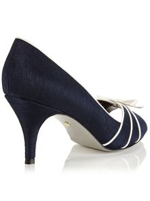 Jacques Vert Piping Detail Peeptoe Shoe