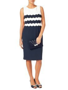 Jacques Vert Scallop Layers Dress