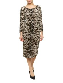 Animal Print Knitted Skirt